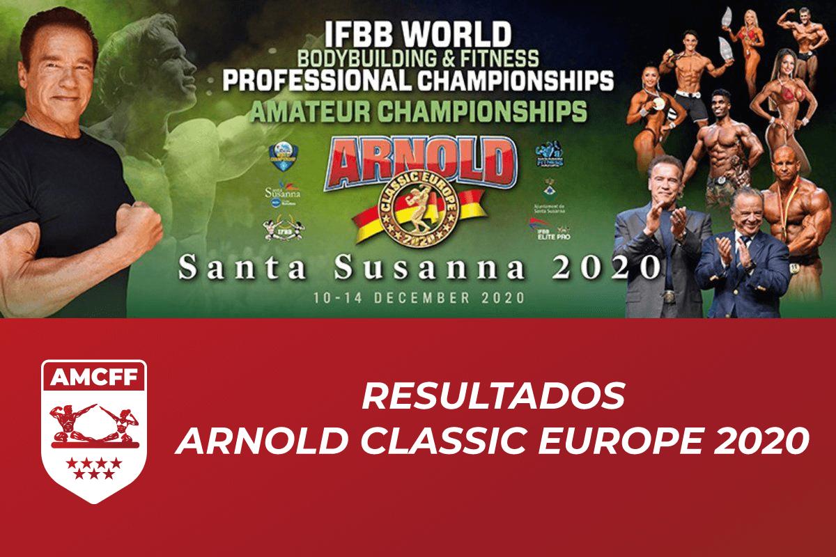 Resultados Arnold Classic Europe 2020